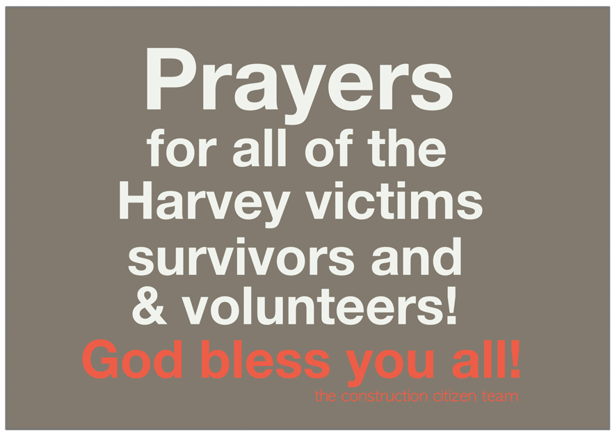 Prayers for all the Harvey victims, survivors, and volunteers!